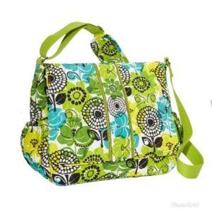 Vera Bradley Lime's Up Green Messenger Baby Bag